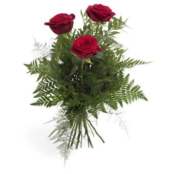 3 roten Rosen bestellen