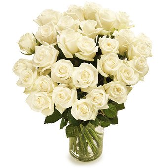 weißer Rosenstrauß versenden