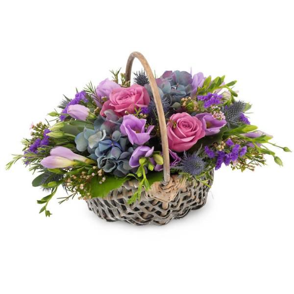 Blumenkorb harmonische Farben
