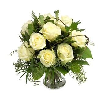 Strauß weißer Rosenzauber