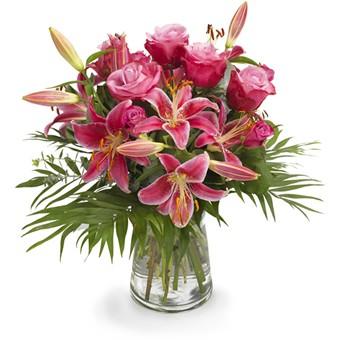 Strauß Lilien und Rosen versenden