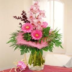 Blumenstrauß mit rosa Schnittorchidee