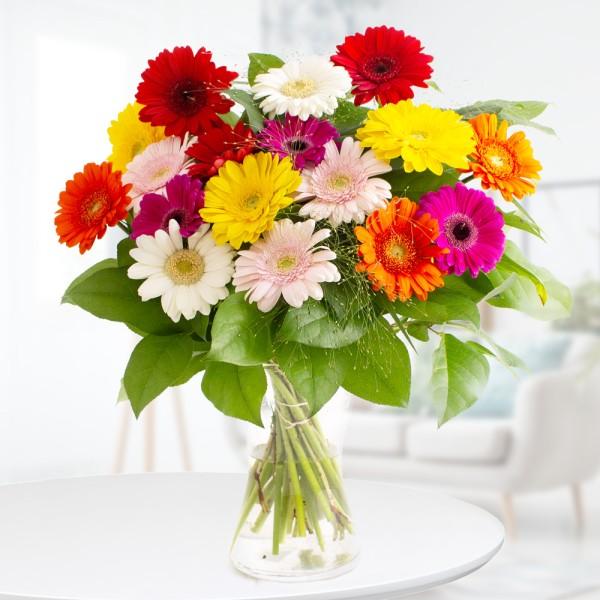 Blumenstrauß bunte Gerbera