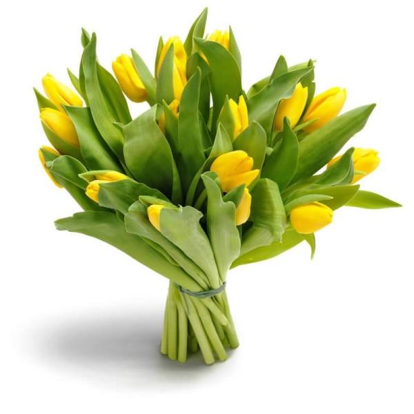 gelber Tulpenstrauß