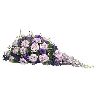 Trauergesteck Violett