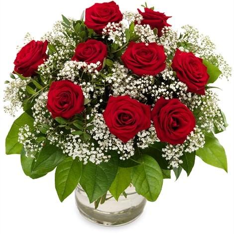Großer Blumenstrauß in rot