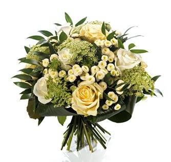 Blumenstrauß weißer Hochzeitsgruß