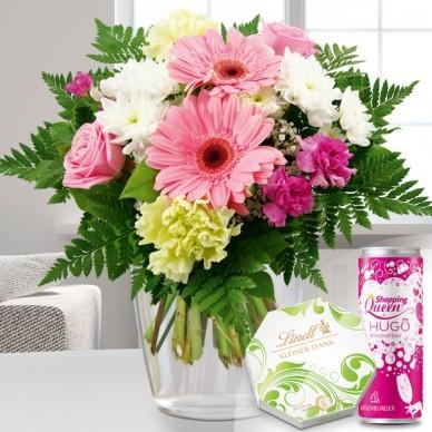 Blumenstrauß in weiß-rosa