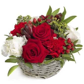 Romantischer Blumenkorb verschicken