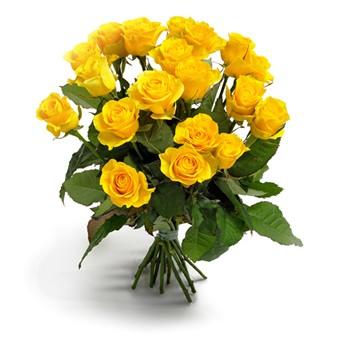 Strauß aus gelben Rosen