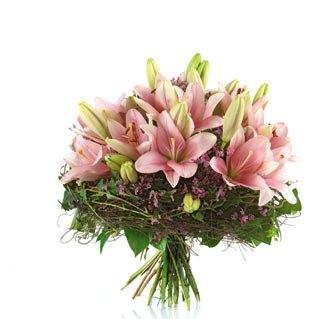Blumenstrauß pinke Lilien