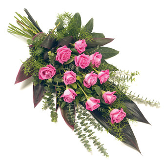 "Trauerstrauß ""rosa Rosen"""
