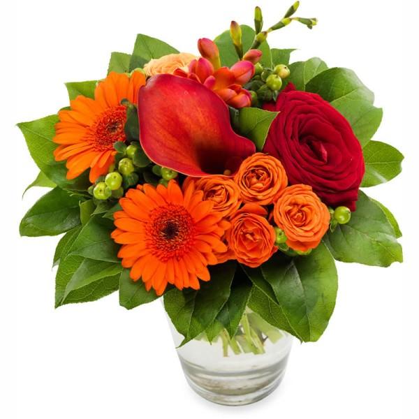 Blumenstrauß zum Fest verschenken